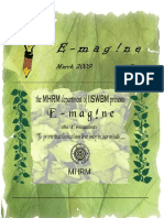 E-magazine of the Department of MHRM, IISWBM_march09