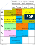 Time Table produced in ascTimetable Software