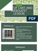 mobile laptop cart and webquest lesson