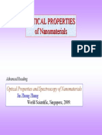 Optical Properties and Spectroscopy of Nanomaterials