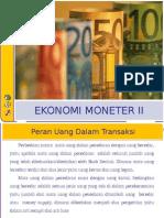Peran Uang dalam Perekonomian