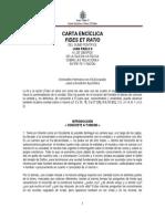 Enciclica Fides Et Ratio_juan Pablo II