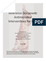 Antimicrobial Interventions for Beef