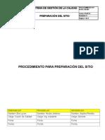 Ir-pr-civ-001. Rev 0. Preparación Del Sitio