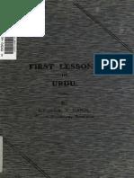 George J. Dann. First Lessons in Urdu