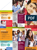 Dépliant cours de mandarin pour les adolescents de 11 à 17 ans (été 2015)