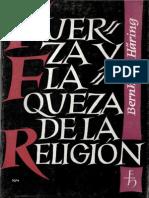 HARING, B. - Fuerza y flaqueza de la religion - Herder, 1967.pdf