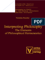 Nicholas Rescher-Interpreting philosophy_ the elements of philosophical hermeneutics  -ontos verlag (2007).pdf