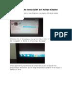 Reporte de Instalación Del Adobe Reader,Flash Player. Winzip y Winrar