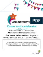 Chorley Volunteers Week 2015 Event Flyer