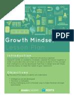 FINAL Growth Mindset Lesson Plan