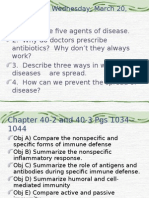 biology chapter 40-2 and ch 40-3 specific and non-specific defenses