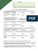 1st Week Exam June 2014