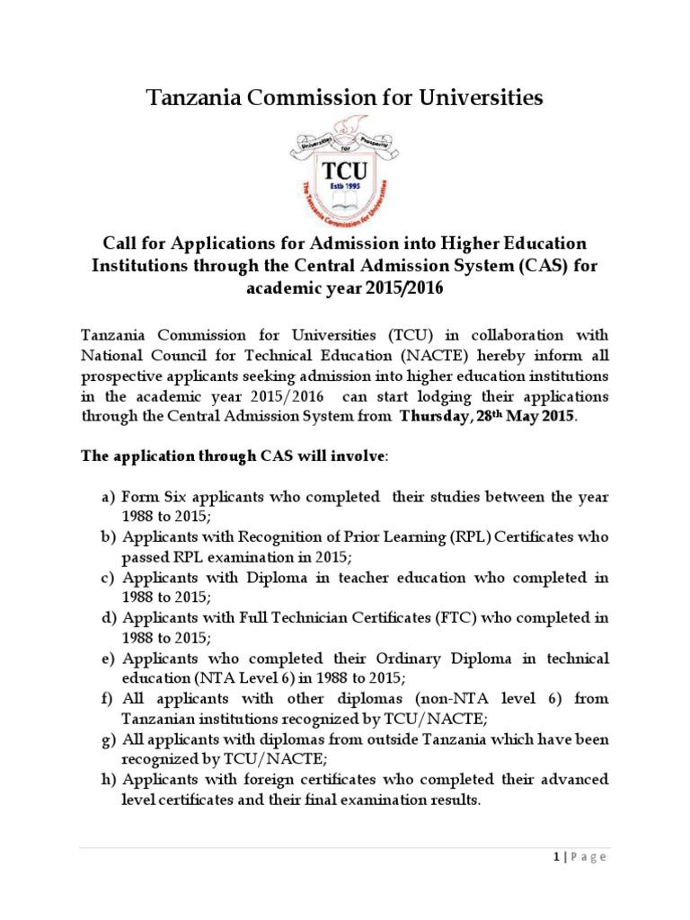 call for application form 6 2015 diploma gce advanced level rh scribd com