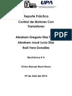 Reporte Práctica Control de Motores Con Transistores