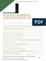 Ecuacion Diferencial Homogenea de Primer Orden EjerciciosEcuacion Diferencial Ejercicios Resueltos
