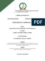 ESTRATEGIAS DE BUSQUEDA NO INFORMADA