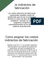 costos INDIRECTOS DE FABRICACION