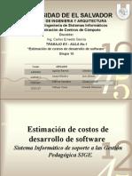 Estimación para desarrrollo de un software