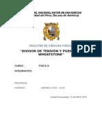 divisor de tension y condensadores unmsm 2015