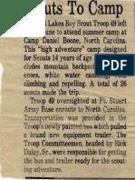 BSA Troop 49 to Camp Daniel Boone
