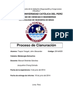 PROCESO DE CIANURACIÓN