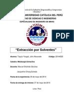 """""""Extracción por Solventes"""""""
