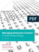Managing Enterprise Content a Unified Content Strategy