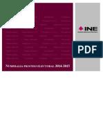 NUMERALIA ELECCION 2015