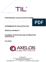 The ITIL Intermediate Qualification Planning Protection and Optimization Certificate Syllabus v5-5
