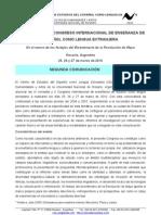 III JORNADAS y II CONGRESO INTERNACIONAL DE ENSEÑANZA DE  ESPAÑOL COMO LENGUA EXTRANJERA - Segunda circular
