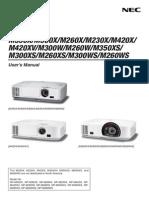 M350X Projector Manual En