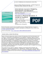 Inclusion in Physical Education. a Systematic Review of Litrature