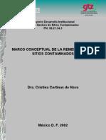 Marco Conceptual de la Remediación de Sitios Contaminados