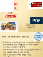 Private Labels in Retail Ankit Gupta