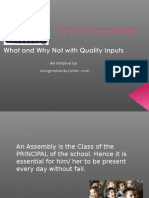 Must for Quality School Assemblies