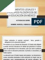Fundamentos Legales Maricela Mendoza