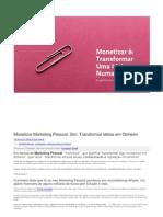 Monetizar Marketing Pessoal