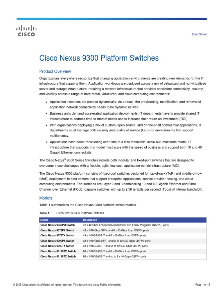 9300 datasheet | Network Switch | Mains Electricity