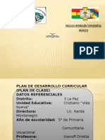 Plan de Desarrollo Curricular Materiales