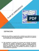 Presentacion Capacitación Plan de Emergencia