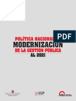 Politica Nacional de Modernización de la Gestión Pública