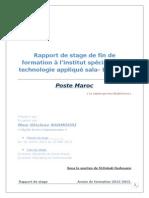 rapport de stage poste maroc
