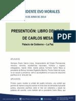 Presidente Evo Morales_libro Del Mar