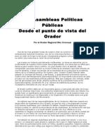 Asambleas Politicas Publicas, Las - Cronauer, Max