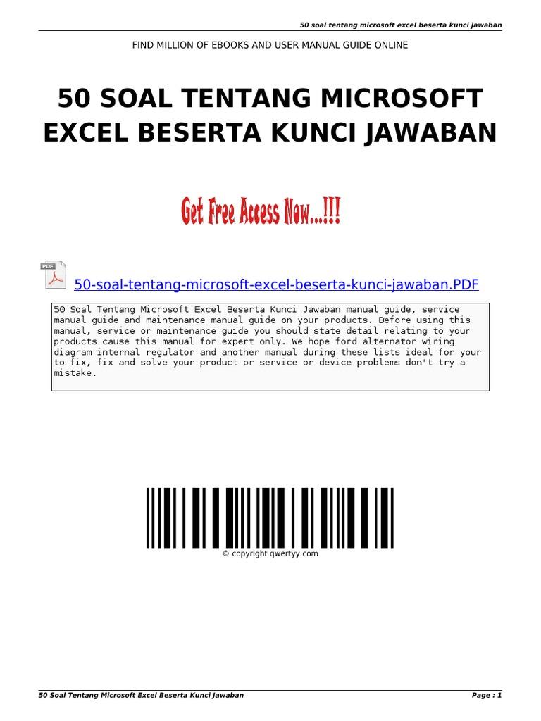 Contoh Soal Excel Dan Jawabannya Kumpulan Soal Pelajaran 3