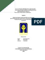 Hubungan Antara Penerapan Akuntansi Pertanggungjawaban Dengan Efektivitas ian Biaya