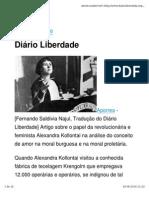 Alexandra Kollontai O Amor Camaradagem