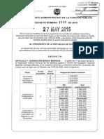 Decreto 1116 Del 27 de Mayo de 2015
