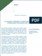 El Design Thinking o Cómo Abordar Los Problemas Por Medio Del Diseño